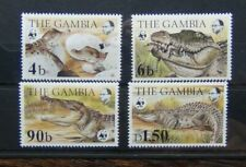 Gambia 1984 Endangered Species The Nile Crocodile set MNH