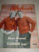 Vintage - 1961 Hand Knit Mohair Fashions Pattern Book by Bear Brand - Vol. 55-B