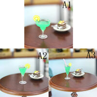 Mini Tazza Cocktail Miniature Dollhouse Resina 1:12 Cucina Bevanda per bambola
