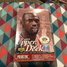 1995-96 Upper Deck Series 2 Factory Sealed Basketball Box - Michael Jordan psa !