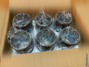 6 X official Yankee Candle Autumn Mosaic Glass Votive Holder RRP £30 7D X 6H cm