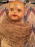 """ANTIQUE COMPOSITION AMERICAN DOLL COMPANY DOLL 25"""""""