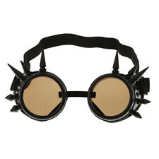 Vintage Steampunk  Goggles Cyber Punk Cyber Gothic Rave Cosplay Black