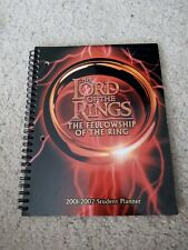 lord of the rings the fellowship of the ring 2001 2002 student planner