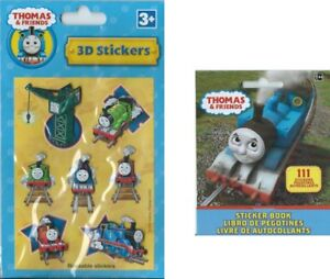 Thomas the Tank Party Favour 3DStickers/Booklet - Thomas the Tank Party Supplies