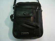 Leather Bag With Wrist Handle And Shoulder Strap Ideal For Travel daily Use etc