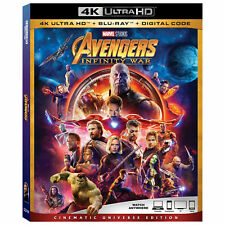 Avengers: Infinity War w/Slipcover (4K Ultra HD, Blu-ray, Digital HD) NEW