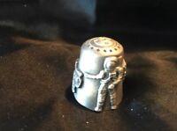 Thimble Pewter Houston Space Center  Souvenir_C3 Texas Astronaut Spaceship