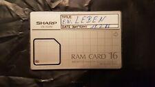 SHARP RAM CARD CE-202M, 16 KB Speichererweiterung für PC Pocket Computer #531