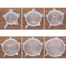 6x Cubiertas de almacenamiento de silicona, Tapas de silicona para tazon Z4T9