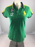 Ralph lauren #12 South Africa Big Pony Green Short Sleeve polo shirt Size Small