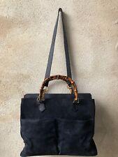 Gucci Bamboo Bags Blue Max Camoacio Ottima Vintage