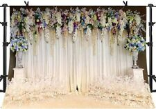 Bridal Shower Romantic Scene Photography Backdrops 10 x 6.5 ft White Curtain