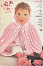 For the babes in your life Patons 780 3ply crochet patterns baby shawl vintage