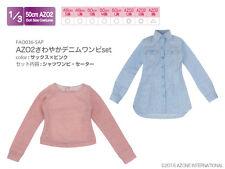 Azone 50cm AZO2 Refreshing Denim Dress Set Saxe x Pink Yamato VMF50 Obitsu