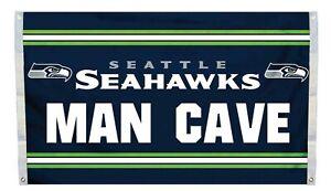 Seattle Seahawks Man Cave NFL Deluxe 3x5 Indoor/Outdoor Flag