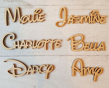 Disney names, Personalised letters  words, Book Art Wood MDF craft toy box
