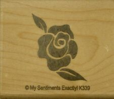 NEW MSE! My Sentiments Exactly! Mounted Wood Rubber Stamp K339 Rose