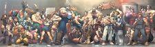 Street Fighter Super Wide Jam Poster Udon Brand New! Ken Ryu Akuma 60 x 18!!!