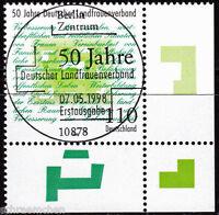 Bund 1988 , o , Eckrand mit Berliner FDC Stempel