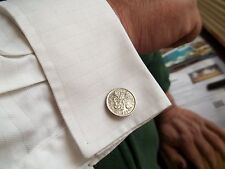 SIXPENCE COIN CUFFLINKS - 1963 - 55th BIRTHDAY
