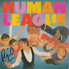 """PHIL OAKEY HAND SIGNED HUMAN LEAGUE 7"""" VINYL FASCINATION."""
