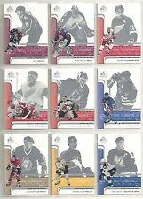 2001-02 SP Game Used Near Complete Hockey Set (53 of 60)  Roy  Yzerman  Lemieux