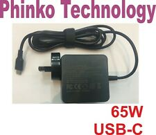 AC Adapter Charger for Lenovo HP Laptops Type-C USB-C 20V 3.25A 15V 3A 65W