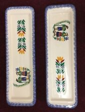 Quimper Spoon Rest Dish Made In France Hand Painted Vintage