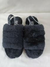 Ugg Fluff Yeah Slide Slippers  - In Black - Size 5