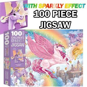 100 Piece Hinkler Jigsaw Unicorn Kingdom Puzzle Kids Junior Puzzle Games