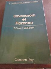 Donald Weinstein: Savonarole et Florence/ Calmann-Lévy