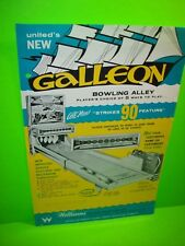 United Williams GALLEON 1965 Vintage Bowling Alley Arcade Game Flyer Large Size