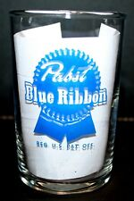"PABST  ""PABST BLUE RIBBON"" VINTAGE 1950's  A.C.L. NICKEL STYLE BEER GLASS"