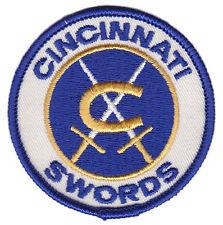 """1971-74 Cincinnati Swords Ahl Hockey Minors 3"""" Team Logo Patch"""