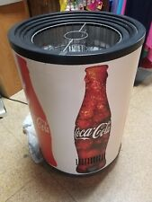 Vintage Coca Cola Coke Commercial Refrigerator Movable Round Works Great