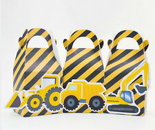 CONSTRUCTION TRUCKS PARTY BOX KIDS BIRTHDAY LOLLY BAGS SUPPLIES DECORATION BOXES