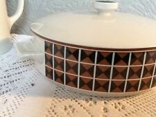 Geometric Vintage/Retro Serving Dishes