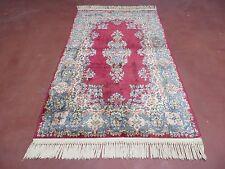 3' x 5' vintage fine hand made royal kirman kerman wolle rug teppich burgundi nizza