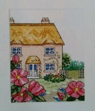 'SUMMER COUNTRY COTTAGE & FLOWERS' CROSS STITCH CHART BY JOANNE SANDERSON (K14)