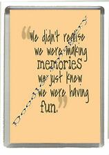 Inspirational Words Fridge Magnet  - Profound Thoughts -Jumbo 90mm x 60mm Size