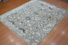 7'6x9' Rug | Modern Luxury Hand Knotted Wool Gray Area Rug