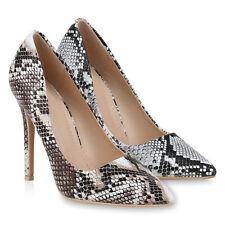 Damen Pumps High Heels Stiletto Schlangenmuster Party 834122 Schuhe