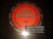 BAD COMPANY - LIVE 1977 & 1979 2 CD  2016 RHINO NEW AND SEALED