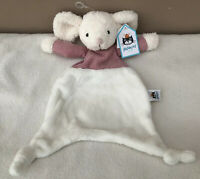 NEW Jellycat Jumble Mouse Soother Soft Toy Baby Comforter Cream Pink BNWT