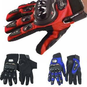 Winter Summer Motorcycle Gloves Leather Motorbike Waterproof Thermal UK