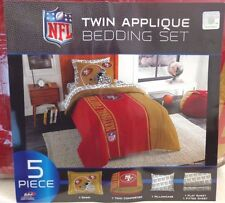 Nfl 5 Piece Twin Sized Team Bedding Set Bed In a Bag