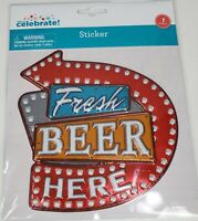 Fresh Beer Here Sticker 6.5 x 6.5 Sticker Decorative Wall Effect Peel And Stick