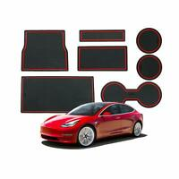 LFOTPP Tesla Model 3 Anti-dust Non-Slip Interior DoorArm Box Storage Mat Pad RED