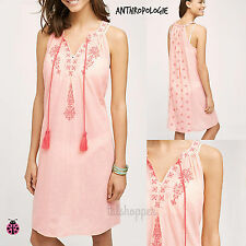 NWT L $98 ANTHROPOLOGIE EMBROIDERED DESERT ROSE BEACH DRESS TUNIC BY SWIM LARGE
